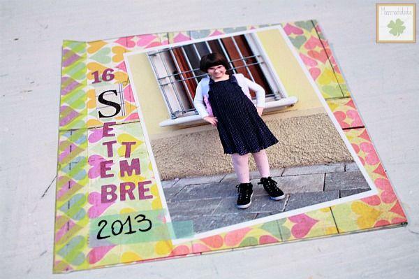 Scrapbooking album for the first day of school - Minialbum scrap per il primo giorno scuola