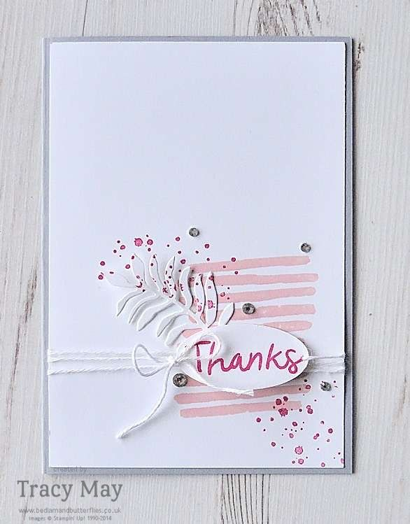 Thankful Thoughts & Playful Backgrounds from Stampin' Up! Global Design Project Tracy May #GDP032