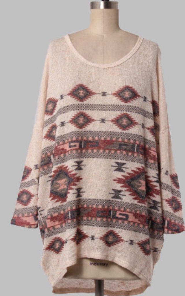Lightweight knit aztec sweater CA$39.99