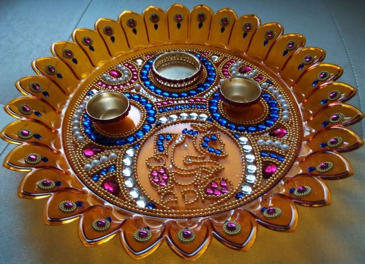112 best images about diwali on pinterest online for Aarti thali decoration with pulses