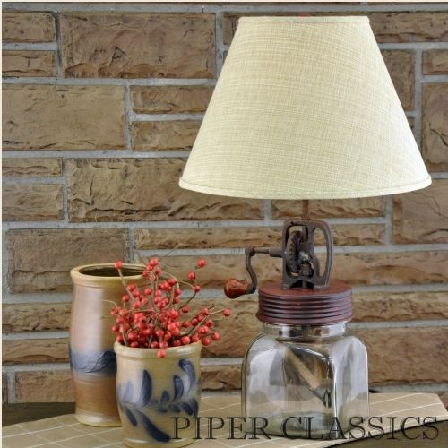 Our butter churn lamp by park designs has a quaint antique appeal suitable for country or farmhouse decor lamp has a red finish and measures high x wide x