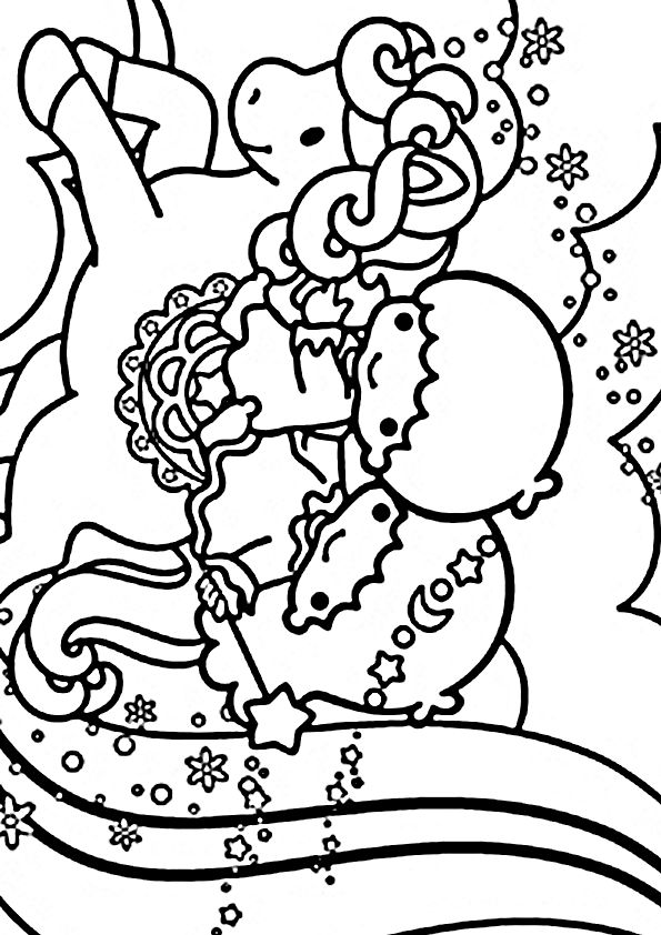 japanese hello kitty coloring pages - photo#19