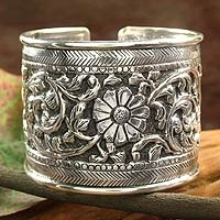 sterling silver cuff bracelet from India