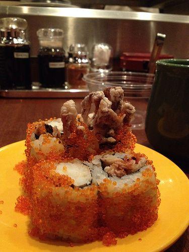 Soft-shell crab sushi, Sushi Tei