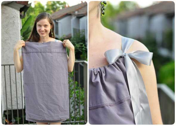 Vestidos con fundas de almohadas   Vestidos funda de