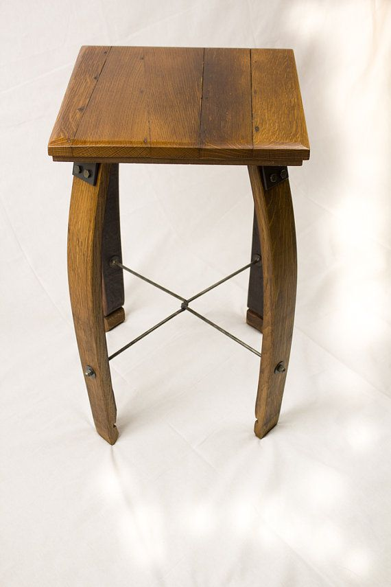 Reclaimed Wine Barrel & Stave Table by RockCreekFurnitureCo