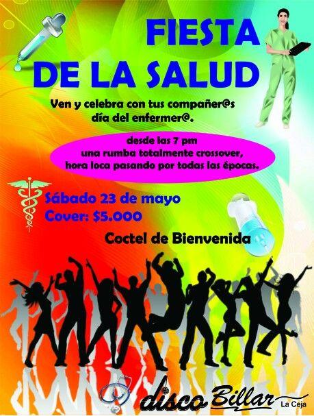 Sabado 23 de mayo... Celebrando el dia del enfermer@... info 5530619... cover $5.000...