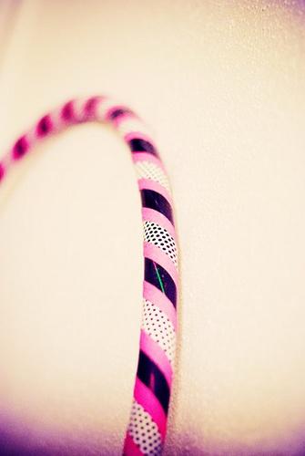 pink & black hula hoop