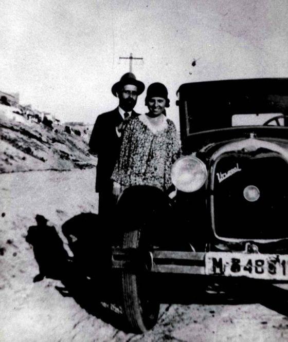 Juan Ramón Jiménez junto a Zenobia en 1918. Foto: Fundación Zenobia - Juan Ramón…