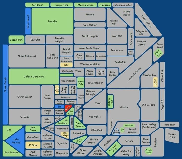 Map Of San Francisco Neighborhoods