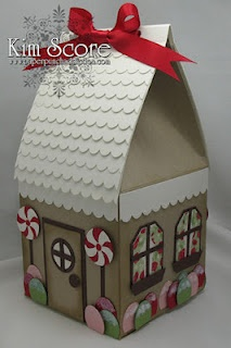 gingerbread house treat box tutorial designed by Kim Score