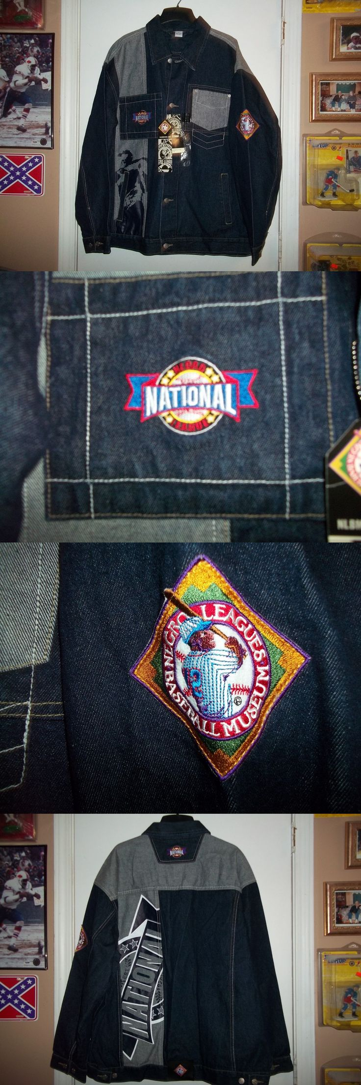 Baseball-Negro Leagues 78129: Nwt - Mlb - Negro National Baseball League - Nlbm - Black Denim Jacket - Xl -> BUY IT NOW ONLY: $85.49 on eBay!