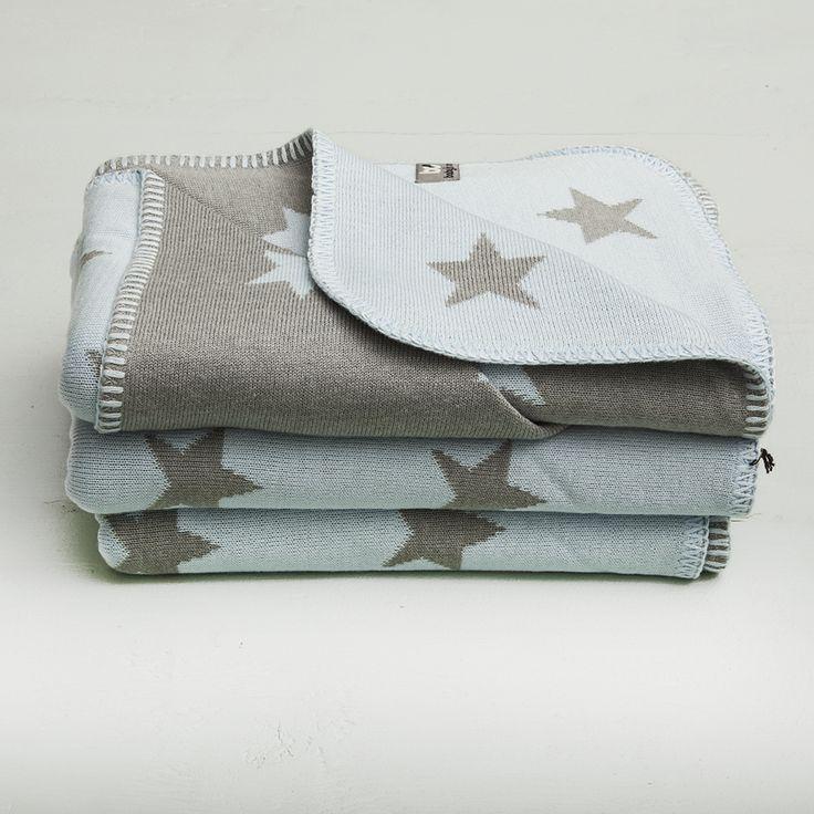Blue Stroller Blanket with Stars