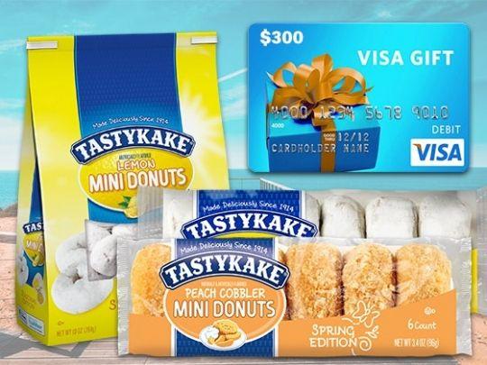 Win A $300 Visa Gift Card & 1 Year Supply Of Tastykake Treats