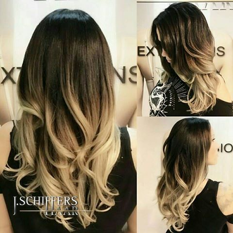 Silver Ombre with Extensions