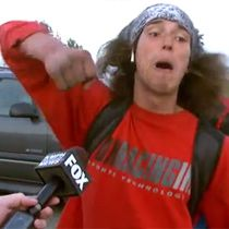 WATCH: Hatchet wielding hitchhiker stops crazy man and gives best news interview ever | Most ridiculous interview!