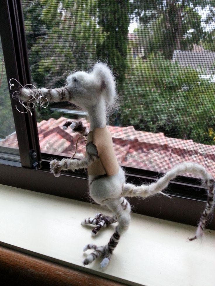 Needlefelted rat - Willard