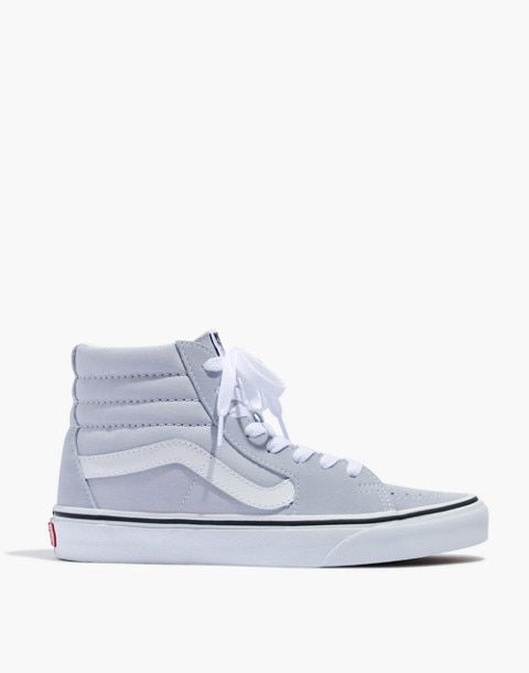0b92498ea0 Vans® Sk8-Hi High-Top Sneakers in Canvas and Suede in gray dawn true white  image 3