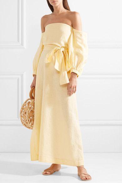 e39de5d7b1 Lisa Marie Fernandez - Rosie off-the-shoulder linen maxi dress