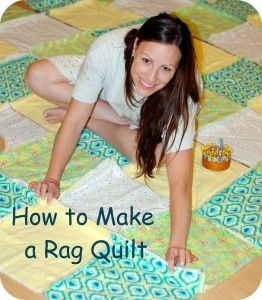 How to make a rag quilt. Even with my beginning sewing skills, I believe I could do this!