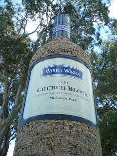 The Big Wine Bottle, or Church Block for the more wine educated, is at Wirra Wirra Winery in McLaren Vale.