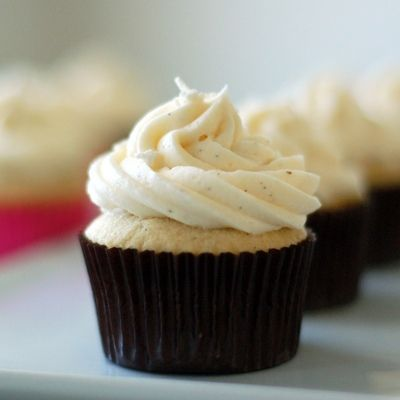 Vanilla Bean Cupcakes with Vanilla Bean Buttercream