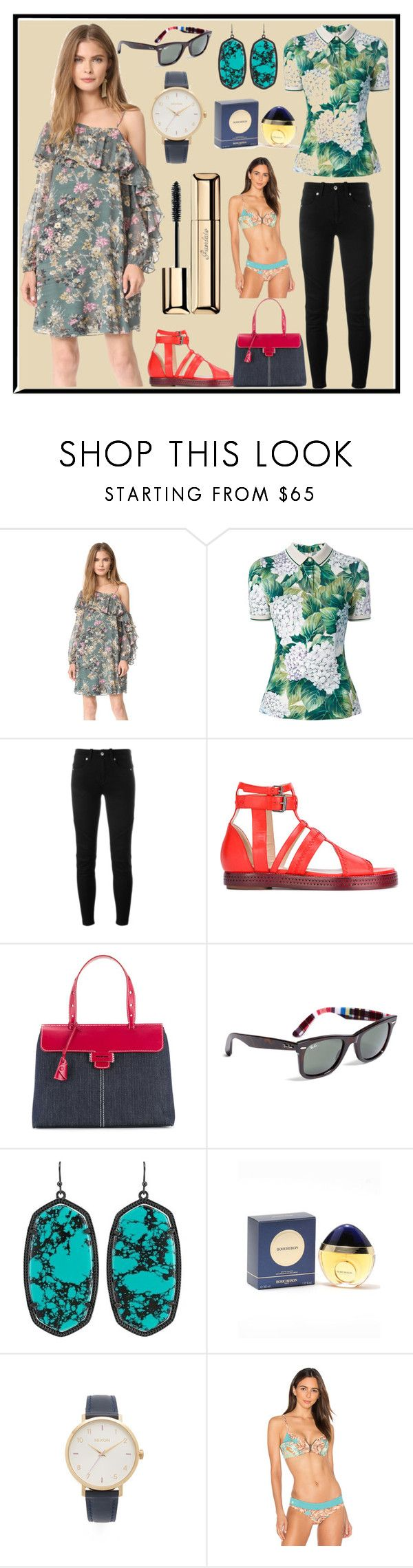 """""""Forgot Old Look"""" by cate-jennifer ❤ liked on Polyvore featuring Haute Hippie, Dolce&Gabbana, Diesel, E L L E R Y, Myriam Schaefer, Brooks Brothers, Kendra Scott, Boucheron, Nixon and Maaji"""