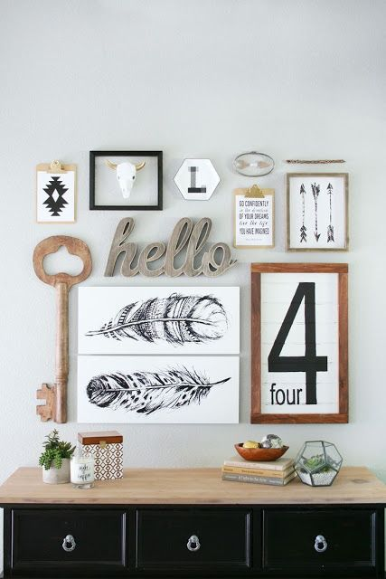 Tips For Creating a Perfectly Eclected Gallery Wall