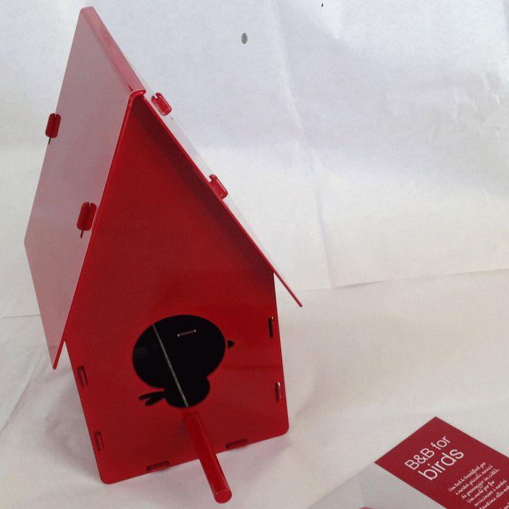 B&B FOR BIRDS - RED by zanzottidesign on Etsy