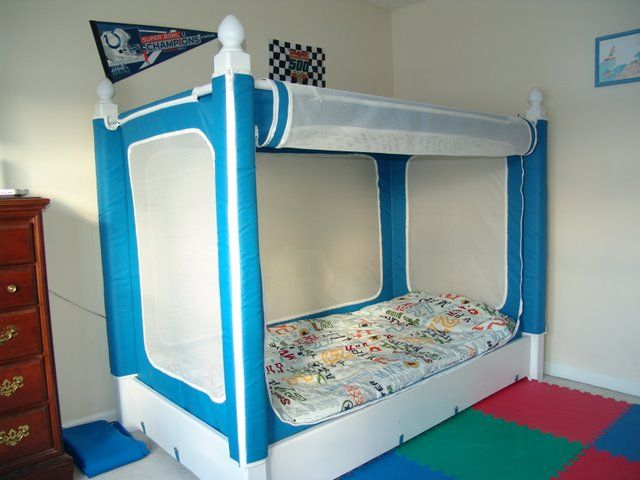 YAY! Larrin finally has his own!! The Noah's Bed is for Autistic children or any special needs child.