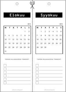 Ilmainen tulostettava kalenteri 15/16, olkaatte hyv�t :)