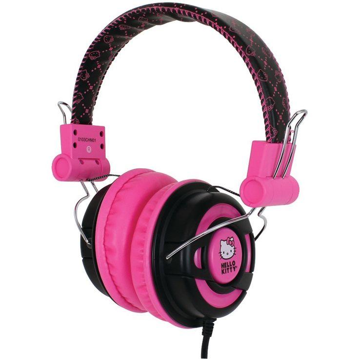 HELLO KITTY KT2091BP Over-the-Ear Foldable Headphones