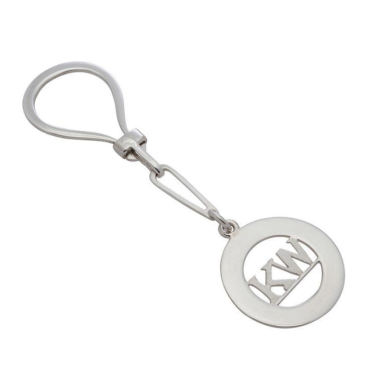 Keyring - CUSTOM-MADE INITIALS - Sterling Silver