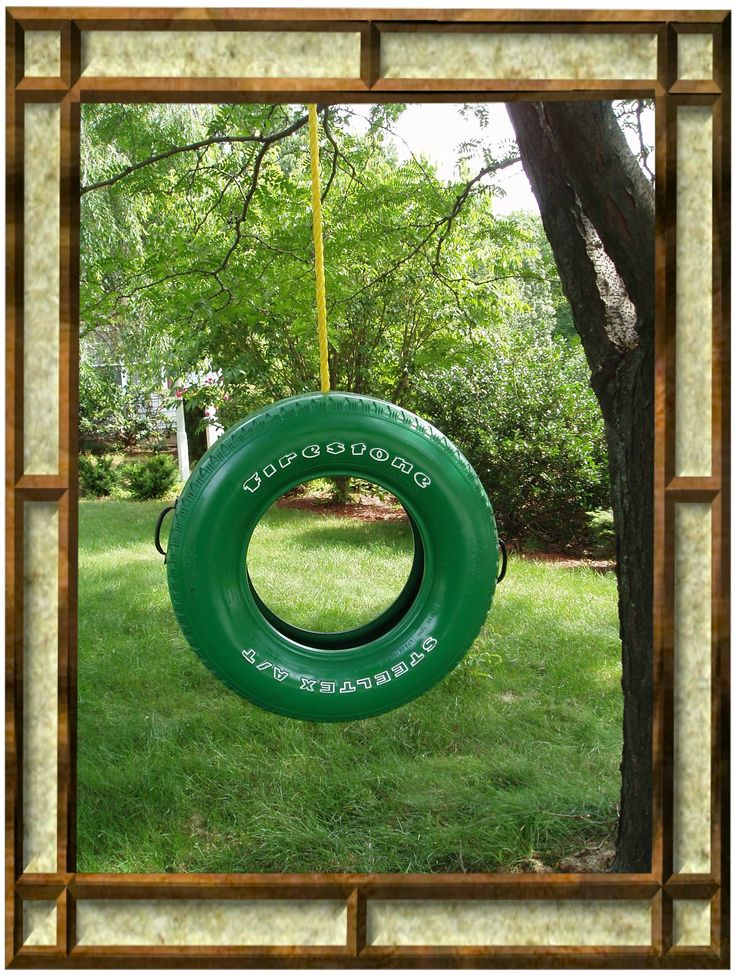 how to make a tire swing with chains