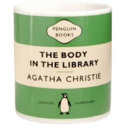 Agatha Christie The Body in the Library Penguin Mug