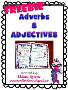 FREEBIE to help students identify & distinguish between ADVERBS and ADJECTIVES