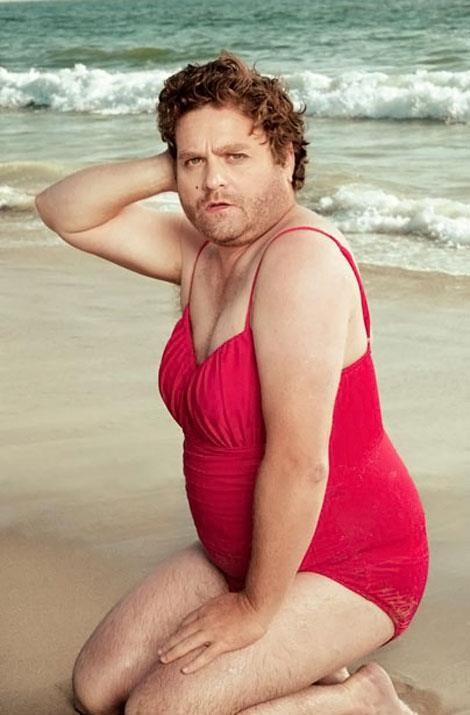 Zach Galifianakis: Awkward Moments, Vanities Fair, Zach Galifianakis, Funny Guys, Classic Beautiful, Swimsuits, Bath Suits, So Funny, Pin Up Girls