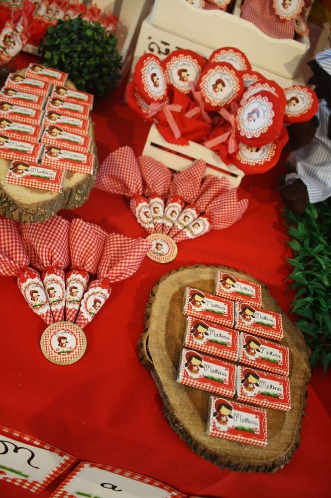 Little Red Riding Hood birthday party sweets! See more party ideas at CatchMyParty.com!