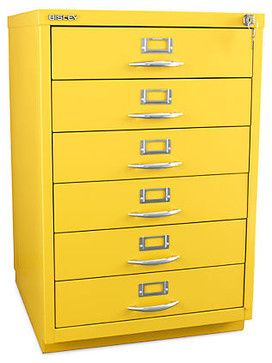 Bisley 6-Drawer Classic Front Filing Cabinet - contemporary - filing cabinets and carts - other metro - 3Flat