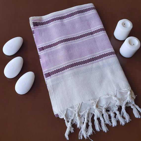 Check out this item in my Etsy shop https://www.etsy.com/listing/460395854/pink-purple-striped-towel-decorative