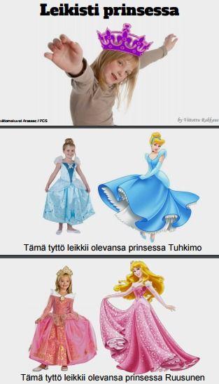 Sadunomaisessa oppimistarinassa harjoitellaan prinsessaleikin salaisuuksia. Mitä prinsessat tekevät?