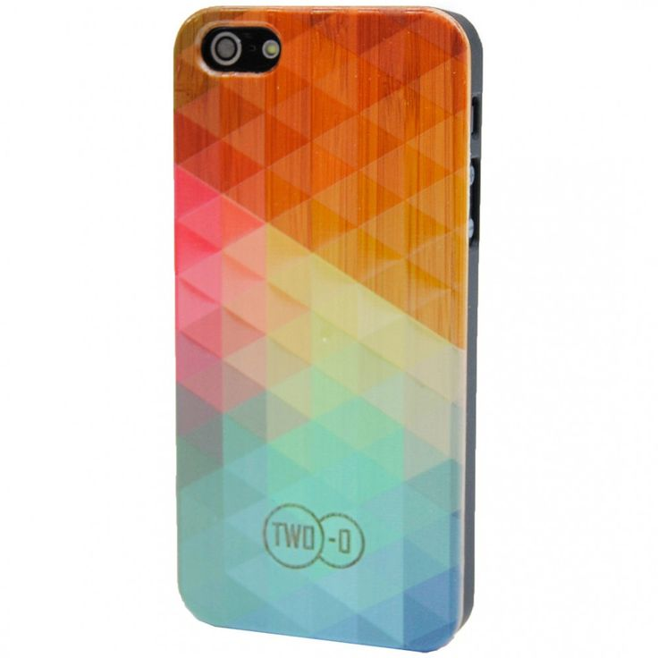 Vol Bamboe Rainbow - Houten iPhone Cover 4/4s van TWO-O | Markita.nl