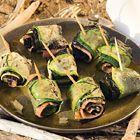 Een heerlijk recept: Courgette-rolletjes met gerookte zalm en nori