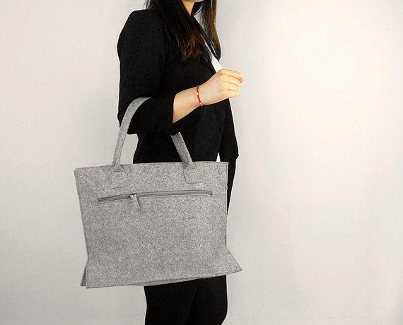 felt Purse Handbag Tote bag Felt Shopping Bag by Filzkraft on Etsy, $25.00