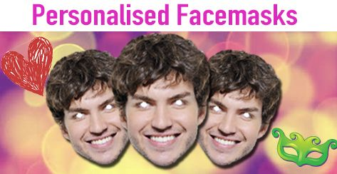 Personalised party face masks that will have everyone in stitches laughing! To know more information visit http://www.maskarama.ie/