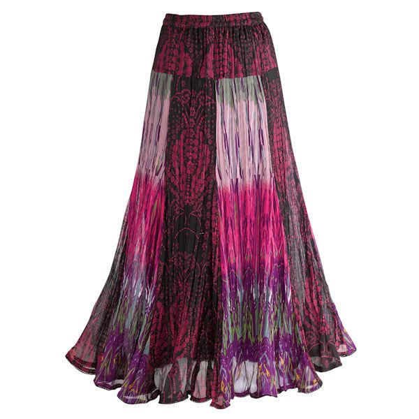 Exotic Purple Patchwork Skirt
