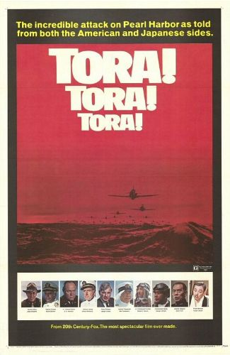 Tora! Tora! Tora! is a 1970 Japanese-American coproduction depicting the events that led up to the surprise attack on Pearl Harbor. Filmed in an era when WWII movies still largely tended to portray Axis combatants as irredeemably evil caricatures, this film was unique in its impartial depiction of Japanese characters, and the attempt to show their side of the story. Perhaps as a result, at its initial release the movie flopped in the US, but was a hit in Japan.
