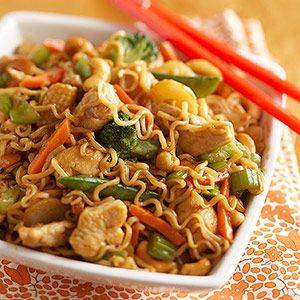 Noodle and Chicken Stir-Fry