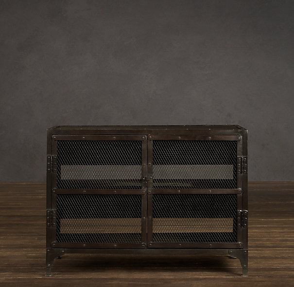 Industrial Tool Chest Media Console Small Decorating