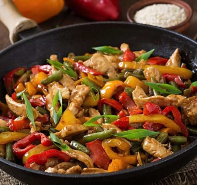 Recept Kuřecí směs se zeleninou a rýží